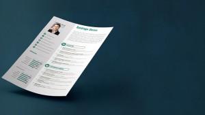 CV anonyme - photo d'un CV classique